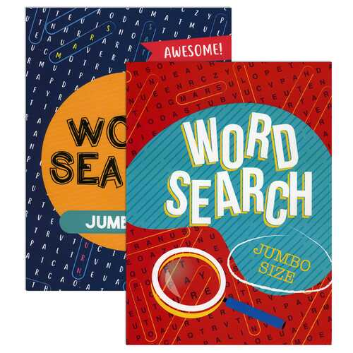 Case of [48] Jumbo Print Word Search Puzzle Book - Assorted