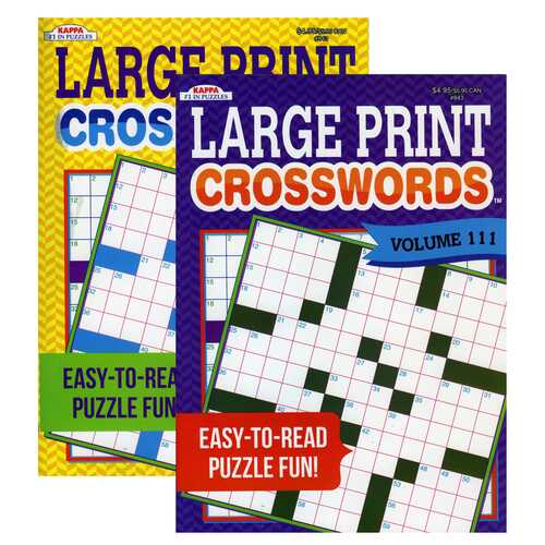 Case of [48] KAPPA Large Print Crosswords Puzzle Books - Assorted