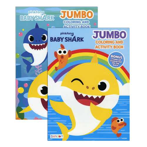 Case of [36] Baby Shark Jumbo Coloring & Activity Book