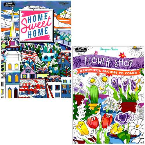 Case of [48] Kappa Adult Coloring Book - Assorted Titles