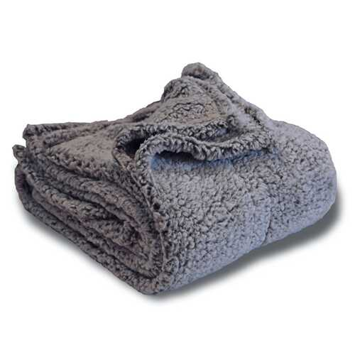 """Case of [18] 50""""x60"""" Two-Tone Gray Sherpa Blanket - 300GSM"""