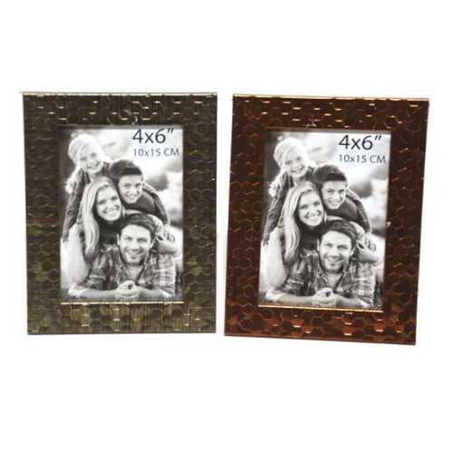 "Case of [48] Plastic Photo Frame - 4"" x 6"" - Gold/Copper"