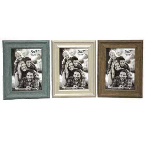 """Case of [48] Plastic Photo Frame - 5"""" x 7"""" - Brown/Beige/Green"""