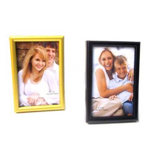 "Case of [48] Plastic Photo Frame -4"" x 6"" - Black/Gold"