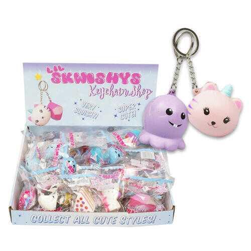 Case of [144] Lil Skwishys Keychain - Assorted