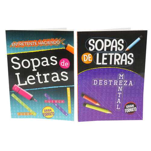 Case of [48] 80 Page Find a Word Spanish Activity Book - Assorted