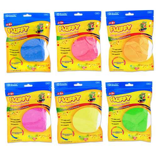 Case of [48] BAZIC 2 oz. Fluorescent Colors Air Dry Modeling Clay