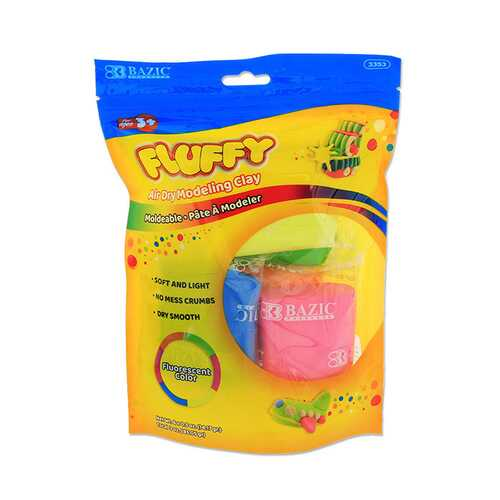 Case of [24] BAZIC Six Fluorescent Color 0.5 oz. Air Dry Modeling Clay