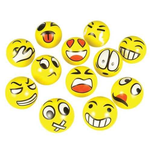 """Case of [144] 3"""" Emoji Foam Ball"""