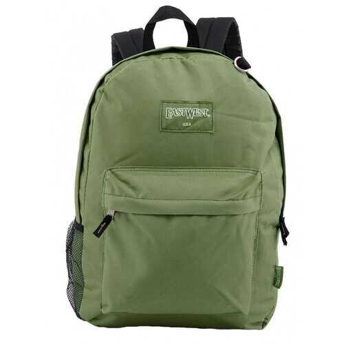 "Case of [24] 18"" Classic Bulk Backpacks with Side Mesh Water Bottle Pocket - Olive"