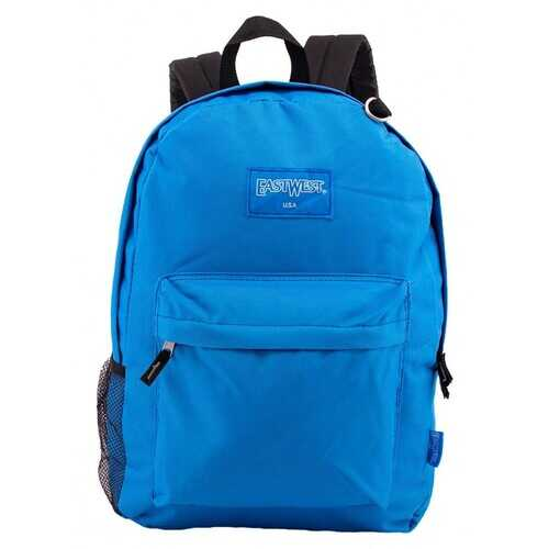 "Case of [24] 18"" Classic Bulk Backpacks with Side Mesh Water Bottle Pocket - Royal Blue"