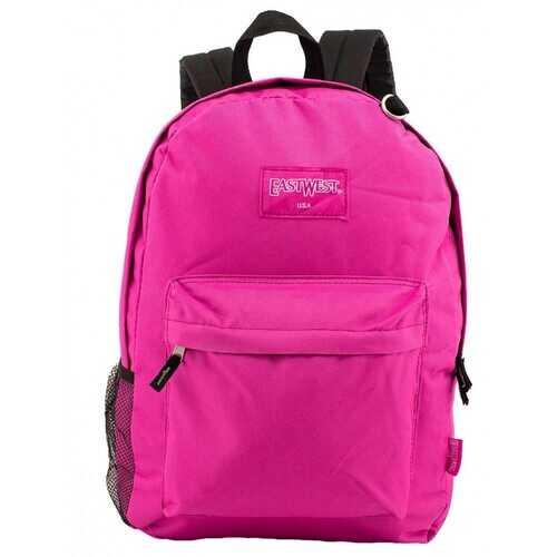 "Case of [24] 18"" Classic Bulk Backpacks with Side Mesh Water Bottle Pocket - Hot Pink"