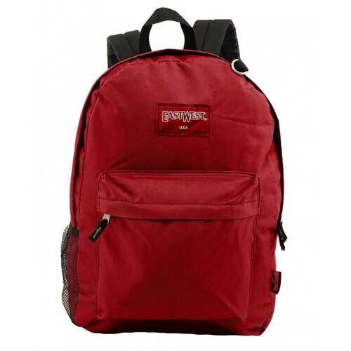 "Case of [24] 18"" Classic Bulk Backpacks with Side Mesh Water Bottle Pocket - Bugundy"