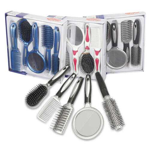 Case of [24] Hair Brush Set - 5 Piece
