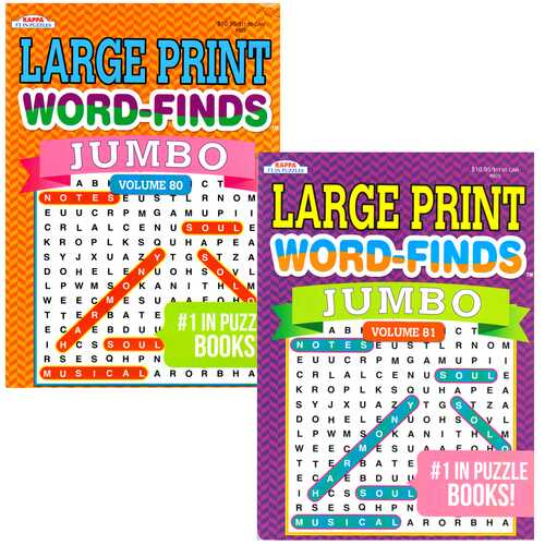 Case of [48] Jumbo Large Print Word-Finds, 46 Pages