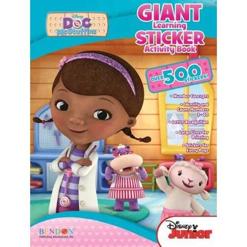Case of [42] Doc McStuffins Giant Learning Sticker Activity Book