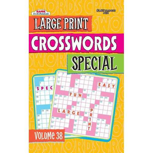 Case of [72] Large Print Crosswords Special Digest Volume 37 and 38