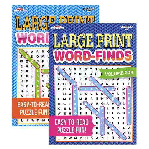 Case of [48] KAPPA Large Print Word Finds