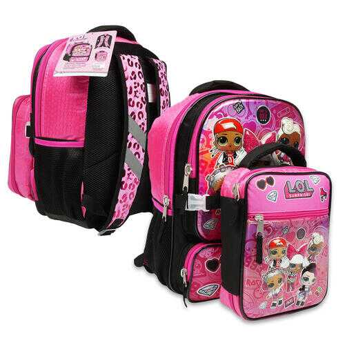 """Case of [12] 16"""" LOL Surprise! Backpack with Lunch Bag"""