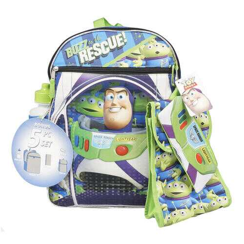 """Case of [12] 16"""" Buzz Rescue Backpack Set - 5 Piece"""