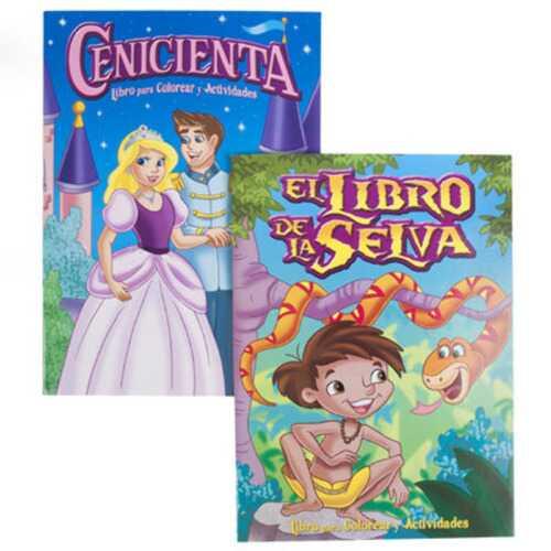 Case of [24] Bilingual Fairy Tale Coloring Book - Cinderella & Jungle Book