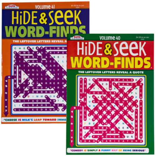 Case of [24] Hide and Seek Word Find Puzzle Book