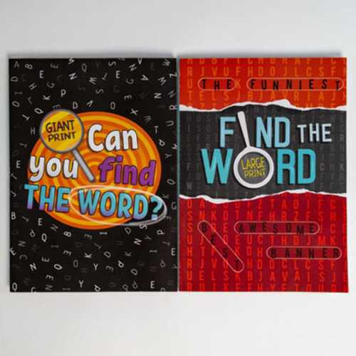 Case of [24] Large Print Word Find Puzzle Book - Assorted Volumes