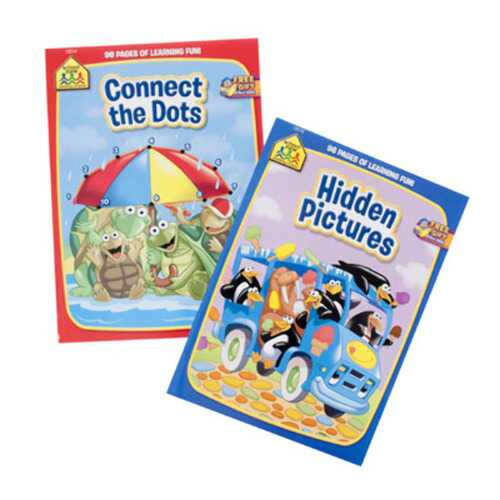Case of [24] School Zone Activity Books - Connect the Dots & Hidden Pictures