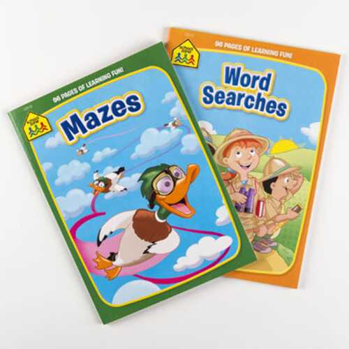 Case of [24] School Zone Activity Books - Mazes & Word Searches