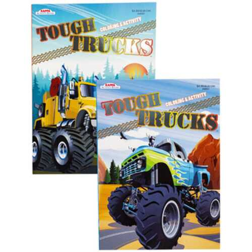 Case of [24] Tough Truck Activity Book - Assorted