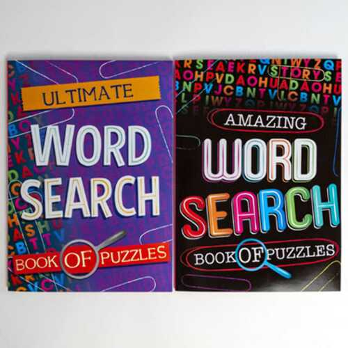 Case of [24] Word Search Book of Puzzles - Assorted Vloumes
