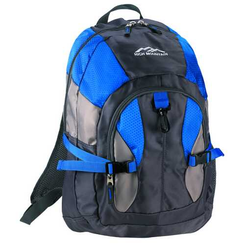 """Case of [12] 18.5"""" High Mountain Premium Backpack - Blue"""
