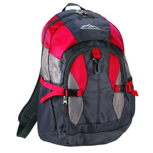 """Case of [12] 18.5"""" Deluxe Backpack - Red"""