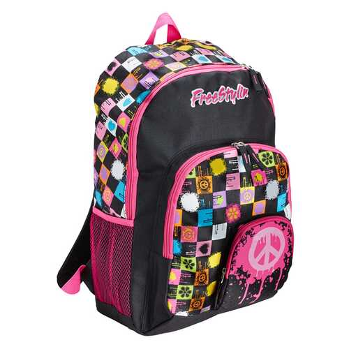 """Case of [12] 18"""" Junior Classic Backpack - Black/Pink"""