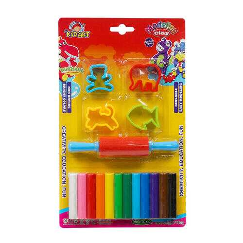 Case of [48] 12 Color Modeling Clay Playset & Rolling Pin