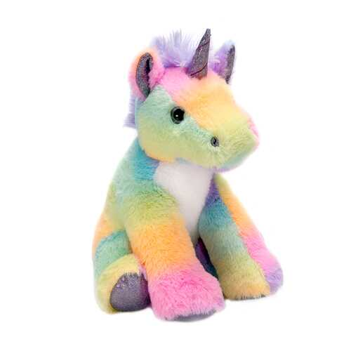 "Case of [24] 10"" Sitting Unicorn Plush - Rainbow Sherbert"
