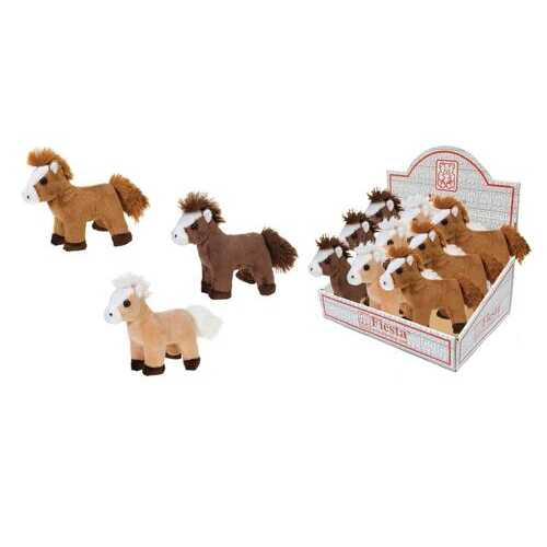 """Case of [48] 5"""" Horse Plush - Assorted in PDQ"""