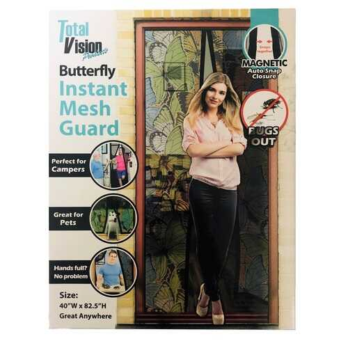 "Case of [12] Instant Mesh Guard - Butterfly Design, 42"" x 82.5"""