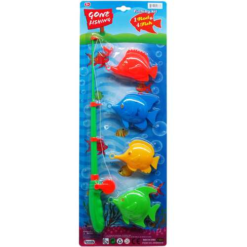 """Case of [24] 4 Piece Gone Fishin' Play Set with16.5"""" Rod"""