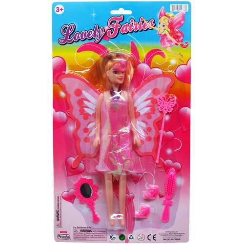 """Case of [36] 10.25"""" Fairy Doll with Accessories - Assorted"""