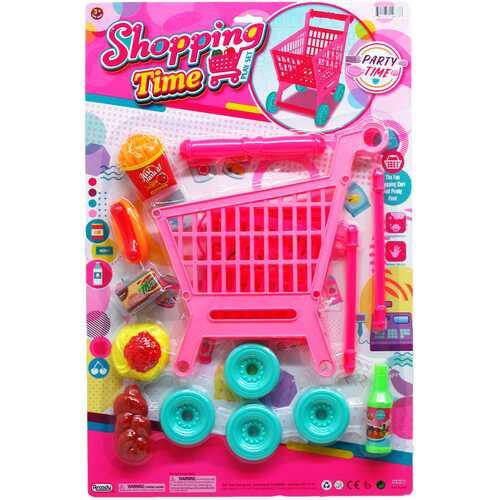 Case of [12] 7 Piece Shopping Cart Play Set