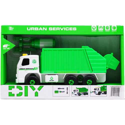 """Case of [12] 8"""" Battery Operated Sanitation Truck Play Set"""