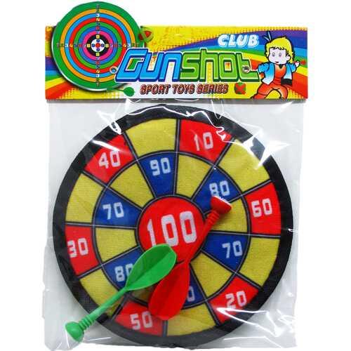 "Case of [72] 7"" Dart Board with 2 Piece Velcro Darts"