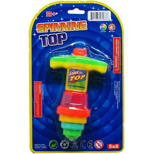 """Case of [72] 4.75"""" Bouncing Top with Light - Assorted"""