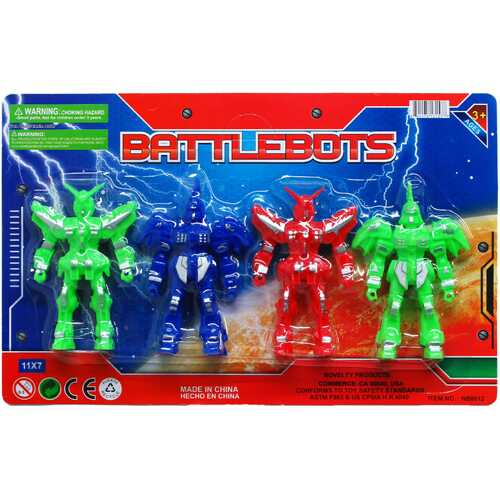 "Case of [48] 4 Piece 4"" Battlebots"