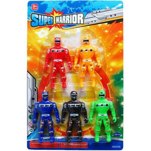"Case of [36] 5-Piece 4.5"" Super Warrior Action Figure"