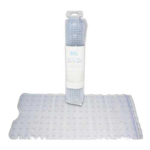 "Case of [24] 39"" PVC Clear Rectangular Bath Mat"