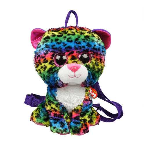 """Case of [12] 13"""" ty Multicolor Cat Plush Backpack"""