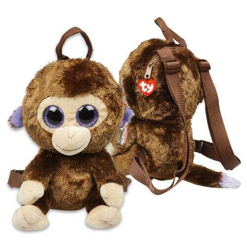 """Case of [12] 13"""" ty Brown Monkey Plush Backpack"""