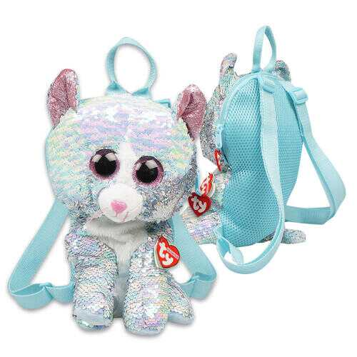 """Case of [12] 13"""" ty Sequin Cat Plush Backpack"""